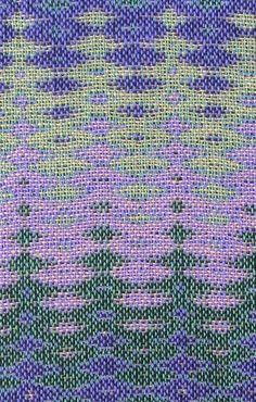 Four-Color Double Weave Sample #3, 12 shafts & 16 treadles, cotton, 2016