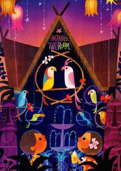 """Tiki Birds"" by Joey Chou, 5X7 print, only available through Disney's Wonderground Gallery"