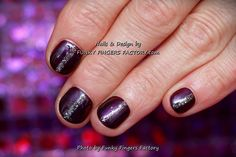 Gelish Night Reflection on short nails by www.funkyfingersfactory.com