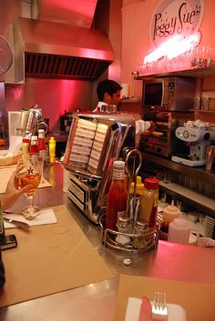 Peggy Sue's lunch counter....ah, the memories!