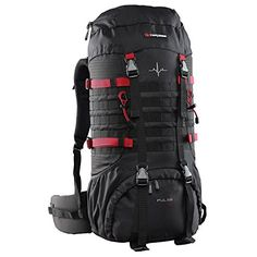 Caribee Pulse 65L Rucksack Black * Click image to review more details.