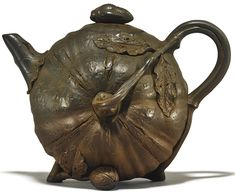 A YIXING 'PUMPKIN' TEAPOT AND COVER | lot | Sotheby's