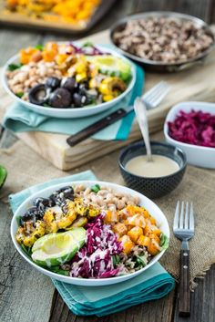 Roasted Rainbow Winter Bowl with Lemon Tahini Sauce is just your basic cozy bowl of deliciousness!