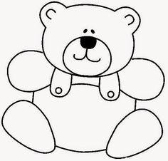 Espaço Educar desenhos para colorir pintar imprimir: Desenhos de ursinhos fofos e cutes para colorir pintar e imprimir ursos e ursas - urso para pintar