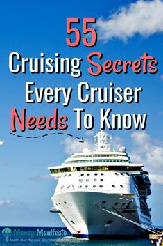 Whether you're a first time cruiser or a veteran cruiser, you need to check out this list of 55 cruise tips, tricks, hacks, ideas and secrets that every cruiser needs to know. Cruising is my family's Cruise Packing Tips, Cruise Travel, Cruise Vacation, Vacations, Vacation Ideas, Shopping Travel, Cruise Checklist, Cozumel Cruise, Honeymoon Cruise