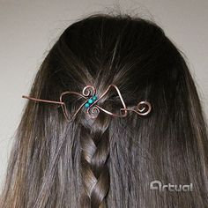Wire wrapped hair bow slide  jewelry birthday gift for by Artual
