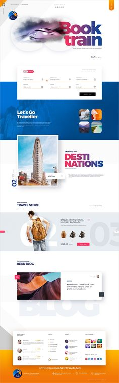 Let's go is clean and modern design #PSD template for #tours and #travel agency website with 15 layered PSD files to live preview & download click on image or Visit #webdesign #psdmockups