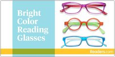 Be bold with our wide selection of bright color reading glasses! From fun prints to bold colors, these readers are sure to brighten your day. Glasses Trends, What's Trending, Brighten Your Day, Reading Glasses, Fun Prints, Bold Colors, Pairs, Change, Colorful