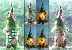 lampe fée feutrée champignon lampe de chevet par FeltedArtToWear