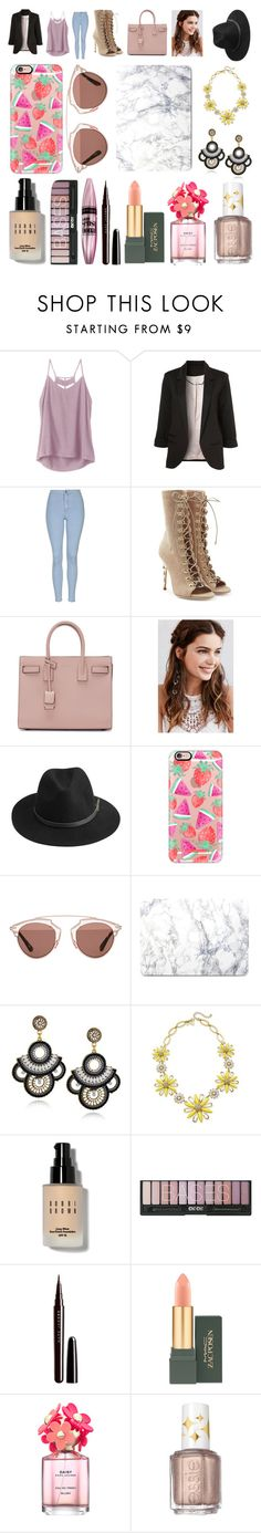 """"" by neondots ❤ liked on Polyvore featuring RVCA, WithChic, Topshop, Balmain, Yves Saint Laurent, REGALROSE, BeckSöndergaard, Casetify, Christian Dior and Kate Spade"