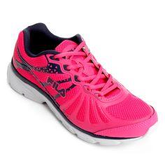 922a8dbc063 Tênis Fila Allure Feminino - Rosa e Marinho - Compre Agora