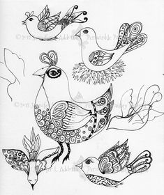 14 Awesome whimsical flower drawings images
