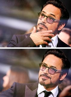 """""""I'll just stand here and look kinda pretty."""" -- Robert Downey Jr."""