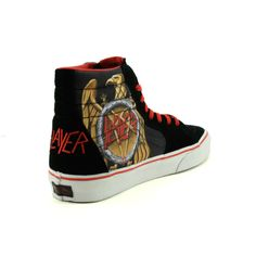 "Vans x Slayer ""Skate Hi"" - bringing back thrash metal w/ artwork seen on the band's 1991 release ""Decade of Aggression"""