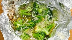 Lemon Parmesan Foil-Pack Broccoli How-To