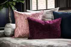 Richly layered with alluring glamour, S. Harris's latest patterns and textures give this living room a dynamic, modern look. Featured fabrics: Scene Stealer – Smoke Show, Pali Paisley – Pompous, Wimbledon – Plum Rum and Remix – Bonnet. Layered Design, Bachelorette Pad, Wimbledon, Contemporary Interior, Fabric Decor, Shabby Chic Decor, Rum, Playroom, Paisley