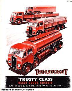 Thornycroft Trusty Vintage Trucks, Old Trucks, Old Lorries, Truck Art, Odd Stuff, Classic Trucks, Cool Cars, Transportation, Literature