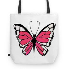 Bolsa tote bag borboleta Metamorfose por Carol Dib | Sementinhas Cor-de-Rosa na Colab55 | www.caroldib.com