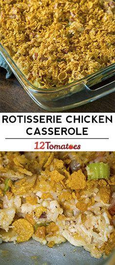 Rotisserie Chicken and Ham Casserole