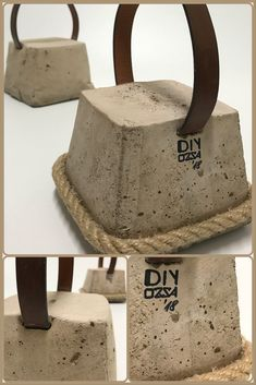 Door Stopper #concrete #rope #leather