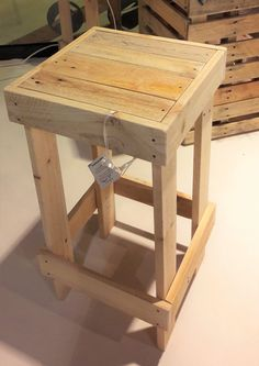 Stool, designed wooden pallet
