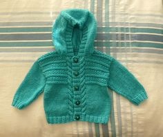 Ravelry: Project Gallery for Jumper & Hooded Jacket pattern by Sirdar Spinning Ltd. Baby Boy Knitting Patterns, Baby Hats Knitting, Knitting For Kids, Baby Patterns, Hand Knitting, Toddler Sweater, Knit Baby Sweaters, Baby Knits, Cardigan Bebe