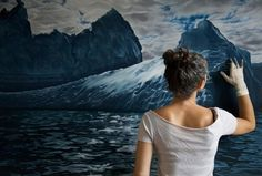 Yaria Forman - hyper-realistic seascape paintings of choppy waters, towering ice and lapping waves, but she does it all using her fingers rather than paintbrushes and other familiar tools.