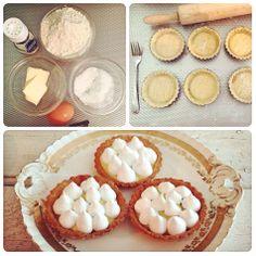Zondag bakdag! Heerlijke citroen-merenguetaartjes gemaakt. Van de week het recept op chicascooking.nl. #bakken #citroen #merengue #taartjes #lekker #foodies #chicas