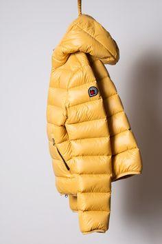 piumino yellow, light down jacket Goose Feel