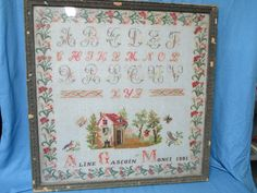An Early 20th Century FRENCH Sampler Dated 1901