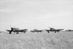 """Photo: British fighter bombers Hawker """"Typhoon"""" ready to fly"""
