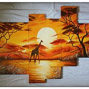 Картины и панно ручной работы. Ярмарка Мастеров - ручная работа Саванна. Handmade.