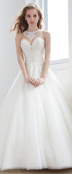 vestido de novia amanda de innovias escote pico y manga | vestidos