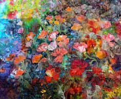 Latest Works:  Poppies by Olena Nebuchadnezzar | Olena Art Quilts