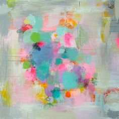 """Winter Garden,"" original abstract painting by artist Sandy Dooley (UK) available at Saatchi Art #SaatchiArt"