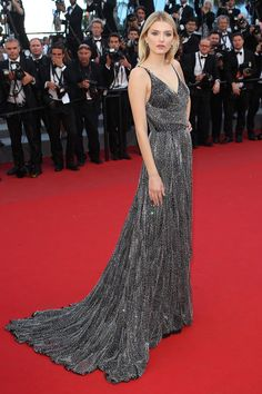 Cannes 2015: Lily Donaldson en Saint Laurent par Hedi Slimane | Vogue