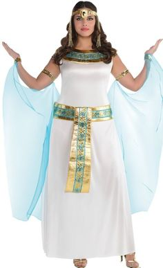 It looks like the plus-size costumes on this site are all one-size-fits-most-plus-size. I'm wary of that because often they *won't* fit a 2x or 3x person. But this one looks un-confining enough that it could fit some of the larger sizes. It's very cute! Adult Queen Cleopatra Costume Plus Size - Party City