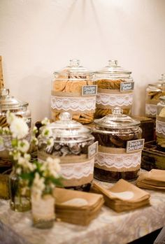rustic wedding cookies bar ideas