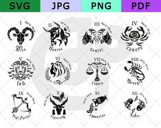 4 inches Clay colorful planter pots 4 in set   Etsy Zodiac Signs Pictures, 12 Zodiac Signs, Astrology Signs, Zodiac Symbols, Zodiac Art, Zodiac Sign Tattoos, Leo Tattoos, Arrow Tattoos, Tatoo