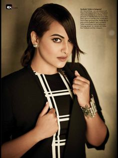 Exhibit Magazine Cover  Celebrity - Sonakshi Sinha  Hair & Makeup by marianna mukuchyan