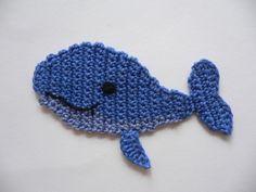 Wal-Fisch  -  Häkelapplikation