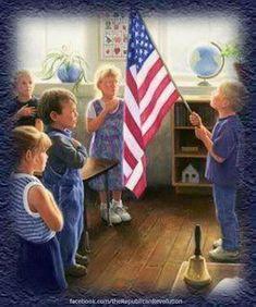I Pledge Allegiance, God Bless America, Flag, Thankful, Science, Flags
