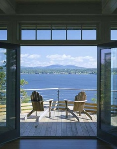 Like being at the bow of a ship...  Contemporary patio by Eck | MacNeely Architects inc.