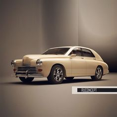 "Проект Газ М20 ""Победа"" на базе Honda. 2014г. #car #design #tuning #gaz21 #победа #gaz21volga"