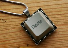 Delete Vintage Trashion Computer Key by sleeplessstoryteller, $18.00