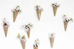 Flowers on the wall! Our room would look so alive!  Dorm Room Bloom | Community Post: 20 Dorm Room Decor DIYs