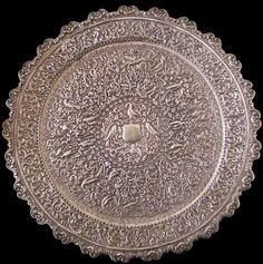 Cutch Silver Platter, Indian Raj or Colonial Silver