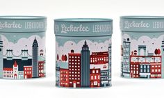 Leckerlee Lebkuchen tin Designed By: Strohl