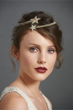 """""""Comet's Rush"""" golden Art Deco star halo from BHLDN by Anthropologie."""