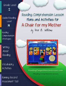 This lesson plan activity package for A Chair for My Mother comes complete with teacher guides, reading comprehension strategy lesson plans, reader's notebook worksheets, vocabulary activities, interactive games, a running record assessment tool and activities for independent practice.  Get it on Teachers Pay Teachers for FREE ($0.00)  http://www.teacherspayteachers.com/Product/A-Chair-for-My-Mother-Lesson-Plans-Activities-Package-CCSS-411651